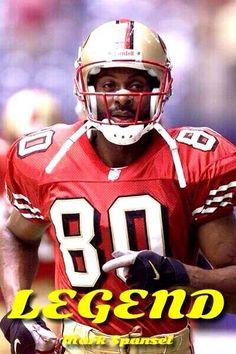 Jerry Rice, San Francisco ~Via Greg Speck – American Football Nfl 49ers, 49ers Fans, Pro Football Teams, Football Helmets, Football Moms, College Football, Football Art, Football Season, Forty Niners
