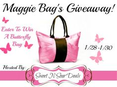 #Win a Maggie Bags Butterfly Bag! #Giveaway from @Sweet N Sour Deals ends 1/30/13.