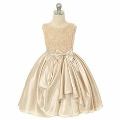 #Kids Dream #ApparelDresses #Kids #Dream #Girl #Champagne #Rosette #Satin #Pick #Flower #Girl #Dress Kids Dream Girl Champagne Rosette Satin Pick Up Flower Girl Dress 8 http://www.seapai.com/product.aspx?PID=7963373