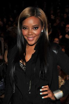 Angela simmons hair inspiration celebs pinterest angela vivienne tam angela simmons fall 2011 love that color pmusecretfo Image collections