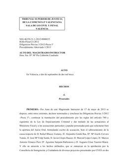 Auto de apertura de juicio oral apertura de juicio oral en una de las piezas del caso cooperación.  by Maria Josep Serra via slideshare