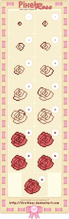 Tutorial - Pixel Rose by firstfear