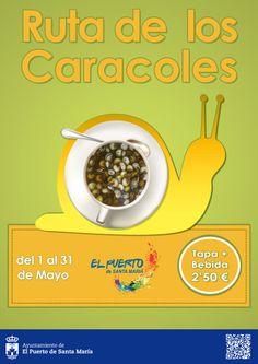 Ruta de los Caracoles Del 1 al 31 de mayo, 18 establecimientos ofrecen un vaso o taza de caracoles + refresco a 2'50 €