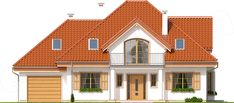 Projekt domu Ofelia 2 170,05 m2 - koszt budowy - EXTRADOM Home Fashion, My Dream Home, Mansions, House Styles, Villas, Home Decor, Projects, American Houses, Home Layouts