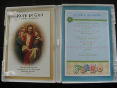 Creative way to keep track of Faith in God books for activity days. Use a DVD case.