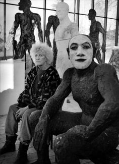 Geniuses at work: Royal Academicians in their studios – in pictures Royal Academicians: Dame Elisabeth Frink Sculpture Projects, Sculpture Art, Human Sculpture, Leighton House Museum, Elisabeth Frink, Portraits, Expositions, Human Art, Artist At Work