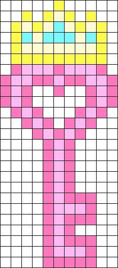 Princess Key Perler Bead Pattern / Bead Sprite