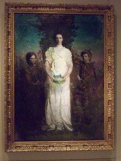 """My Children (Mary, Gerald, and Gladys Thayer)"" by Abbott Handerson Thayer"