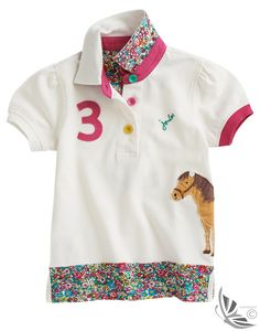 Joules Girls' Moxie Polo Shirt – Crème O_JNRMOXIE