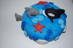 Delfin und Orca Torte