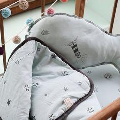 Baby Blanket Baby Comforter Baby Boy Blanket Blue Lined