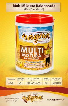 Multi Mistura Balanceada Nayna Tradicional 500gr (Ração Humana)