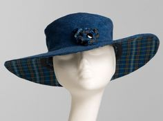 Susan Morehead - Wide-Brimmed Denim Sun Hat