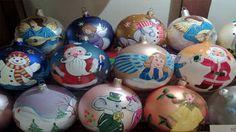 palline di natale in vetro dipinte a mano - Cerca con Google