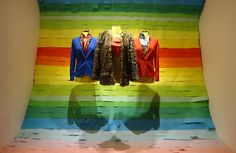"""""""Somewhere Over the Rainbow"""" by students of group B at Artidi Escuela Superior, Barcelona, Spain, pinned by Ton van der Veer"""