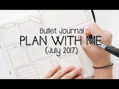 Bullet Journal - JULY 2017 - Plan with Me! | Doodle on your planner - YouTube