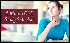 Helpful tips to prepare for #GRE in a month.