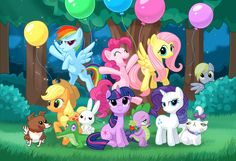 My Little Pony: Friendship is Magic.  I love this show...don't judge me! :)