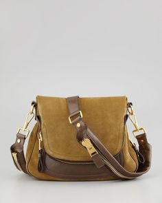 Jennifer Medium Leather Crossbody Bag by Tom Ford at Bergdorf Goodman. Who wouldn't love to have this beautiful bag Medium Crossbody Bags, Leather Crossbody Bag, Leather Bag, Cute Purses, Purses And Bags, Tom Ford Jennifer, Big Bags, Womens Toms, Beautiful Bags