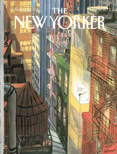 The New Yorker Cover - September 1993 Poster Print by Jean-Jacques Sempé at the Condé Nast Collection The New Yorker, New Yorker Covers, Rhapsody In Blue, I Love Ny, Magazine Art, Magazine Covers, Museum Exhibition, Dance Art, Cover Art