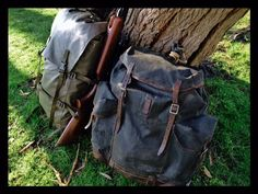 The Swiss M91 patrol pack shown with a 70-year old WWII Swiss Army vintage pack
