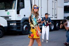 Street Style: Gafas de sol efecto espejo