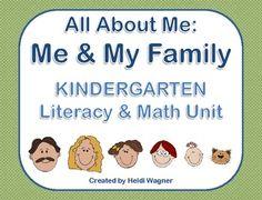 All About Me: Me & My Family Unit - Heidi Wagner - TeachersPayTeachers.com Kindergarten Family Unit, Preschool Class, Preschool Themes, Literacy Activities, Family Activities, New Classroom, Primary Classroom, Classroom Displays, All About Me Topic