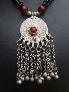 Vintage Ethiopian necklace with silver Maria by familyonbikes, $140.00
