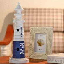 13,5 * 41 CM Srdcom darov Ocean Drevený maják Model stredomorskom štýle Wood Ozdoby interiéru domáce dekoráciu (Čína (pevninská časť))