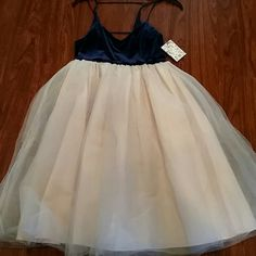 NWT Lauren Conrad Runway Limited Edition gorgeous size 8 Hard to get.perfect for prom.. crushed blue velour on top. will definitely stand out and make a statement Lauren conrad Dresses