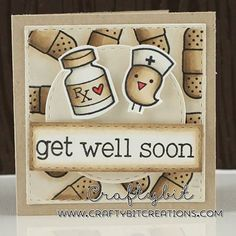 Marika's super cute Get Well Soon card is our Pin of the Day! #lawnfawn #PinoftheDay