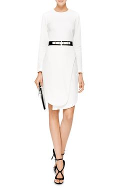 Opening Ceremony Manera Angled-Hem Crepe Dress..I love the black and white, such a clean look..m m..