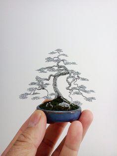 Wire Bonsai Tree sculpture by Ken To by KenToArt on deviantART
