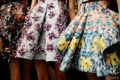 Bright Floral print & embellishment | Mary Katrantzou Spring 2014 #fashion #details