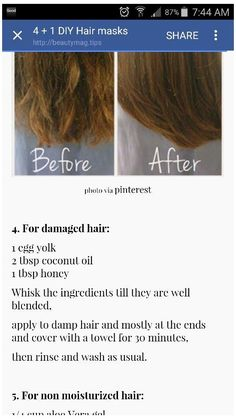 split end repair diy hair masks