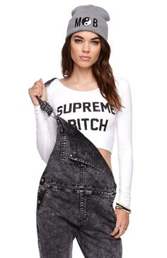 Married to the Mob Supreme Bitch Cropped Tee