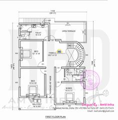 Sqft Kerala style Bedroom House Plan from Smart home GF    Free floor plan and elevation of square feet BHK contemporary home design by AmVi Infra  Palakkad  Kerala