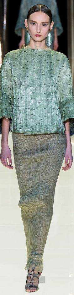 Asia and bamboo inspirations for ARMANI PRIVE` Haute Couture, Spring 2015