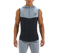 Men's Gymshark Sleeveless Lightweight Hoodie, 3 Color Choices!