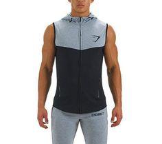 Men's Gymshark Sleeveless Lightweight Hoodie, 3 Color Choices!