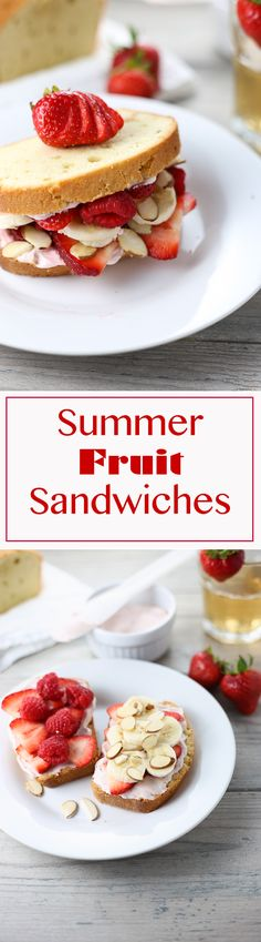 Wow your guests with these delicious and easy summer fruit sandwiches!! | 3scoopsofsugar.com