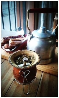 """yerba mate, kettle and churros.... ... .... ... """"With Love, The Argentina Family~Memories of Tango and Kugel; Mate with Knishes"""" - Available on Amazon"""
