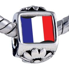 Pugster Bead France Flag Beads Fits Pandora Bracelet Pugster. $12.49. Hole size is approximately 4.8 to 5mm. It's the photo on the flower charm. Fit Pandora, Biagi, and Chamilia Charm Bead Bracelets. Bracelet sold separately. Unthreaded European story bracelet design