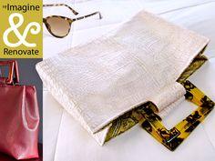 Re-imagine & Renovate: Faux Leather White Alligator Handbag | Sew4Home