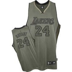 63e4ef1ca4c2bb Kobe Bryant Authentic In Grey Adidas NBA Los Angeles Lakers Field Issue  24  Men s Jersey