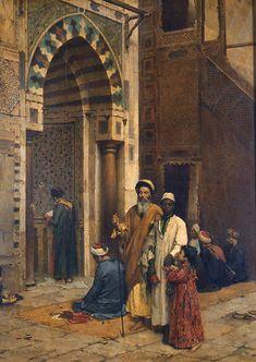 Arthur von Ferraris (Hungary, 1856-1936) 'Prayer Time', 1889