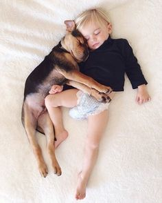 A boy and his dog... so adorable. <3 toddler-naps-with-puppy-theo-and-beau-2-7