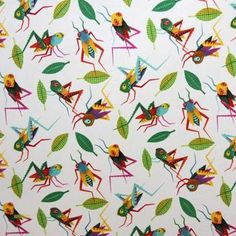 The Hoppers fabric in natural, multi Orla Kiely Fabric, Marimekko Fabric, Designers Guild, Japanese Fabric, Fabric Online, Fabric Swatches, Rooster, Quilts, Contemporary