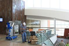 The inaugural flight will leave Albert J. Ellis Airport's new passenger terminal about 6 a.m. Wednesday morning.