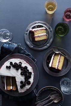 Black Tea Cake w/ Blackberry Lime Jam & Honey Whipped Cream [Recipe from Bakers Royale] Fruit Recipes, Sweet Recipes, Cake Recipes, Dessert Recipes, Yummy Recipes, Sweet Desserts, Just Desserts, Delicious Desserts, Tea Cakes
